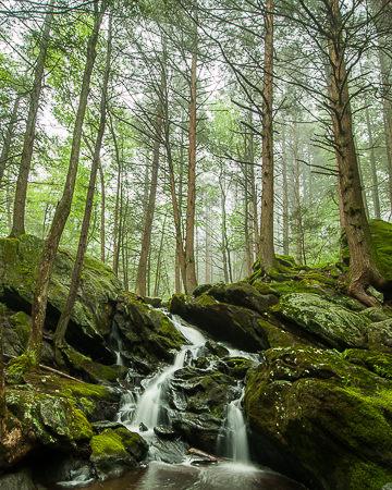 Buttermilk Falls (inset)