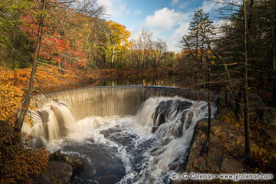 Pequabuck Falls, Autumn (Pequabuck Falls on Pequabuck River, Plymouth, Connecticut)
